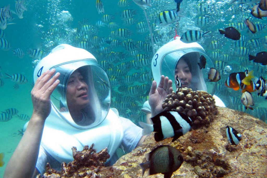 Bali Undersea Walk via Rukmana Bali Tour